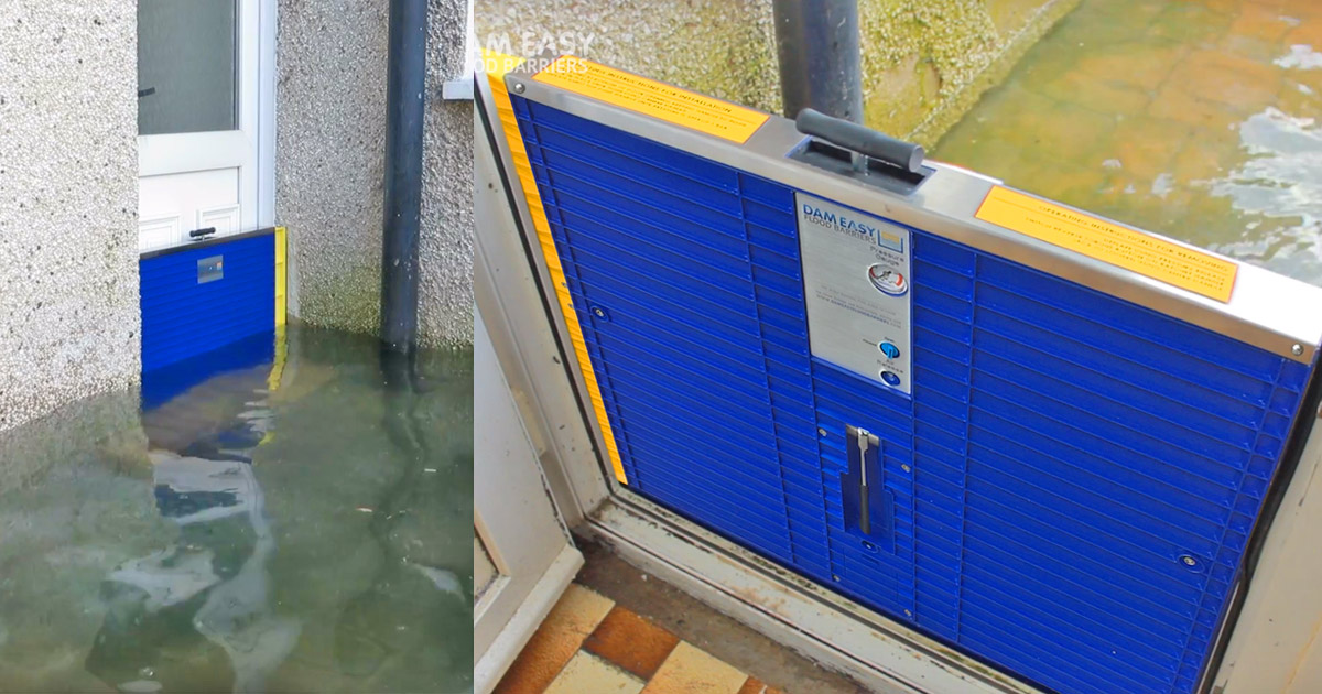 Dam Easy Is a Flood Barrier That Installs Right In Your Doorway