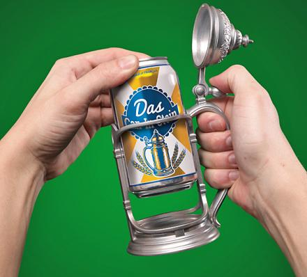 Das Can-in-Stein: Beer Koozie That Turns Your Beer Into a Pewter Tankard