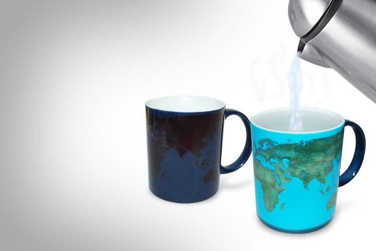 Heat Sensitive Earth Coffee Mug