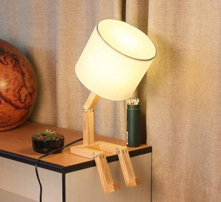 This Sad Man Adjustable Wooden Lamp Is How We All Currently Feel About 2020