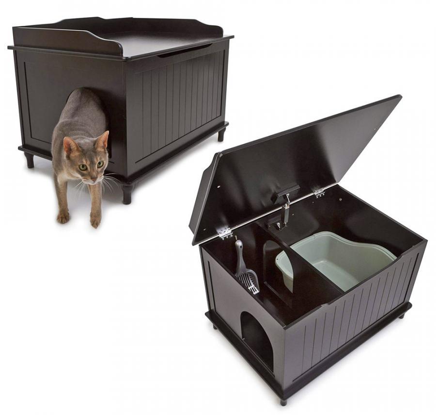 Designer Cat Litter Box Side Table Kitty Litter Hider