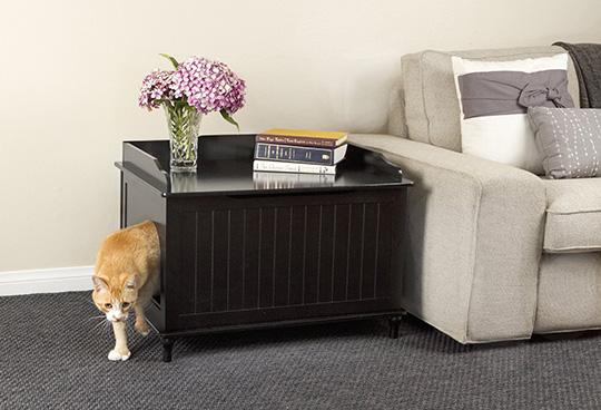 Designer Kitty Litter Box - Side table cat litter hider