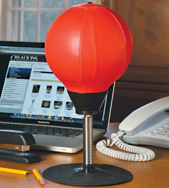 Stress Buster Desktop Punching Bag   Office Punching Bag Suctions To Your  Desk