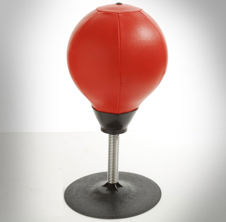 Stress Buster Desktop Punching Bag Office Suctions To Your Desk