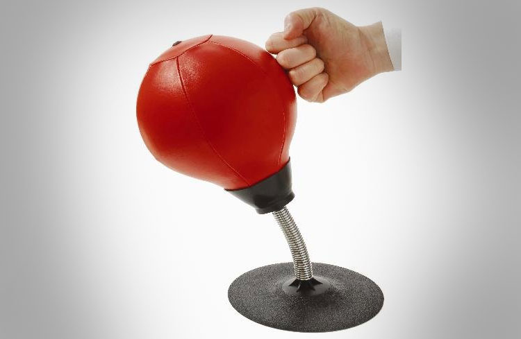 Stress Buster Desktop Punching Bag - Office Punching Bag suctions to your desk