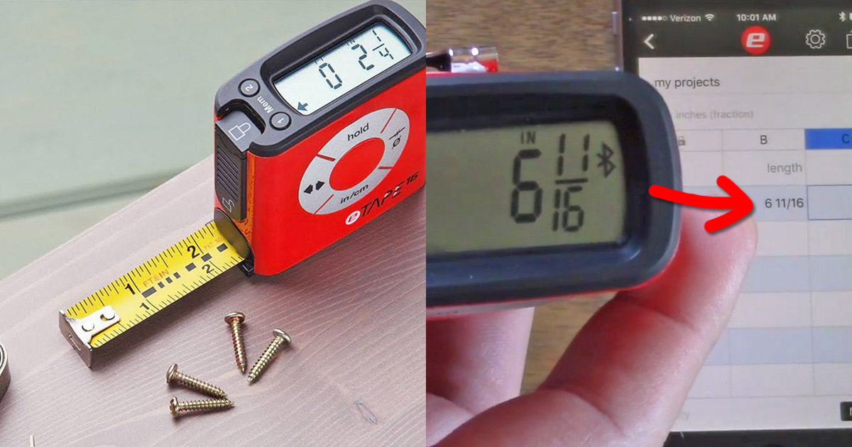 Digital Tape Measure Syncs With Your Phone To Record Measurements