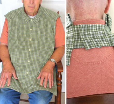 Adult Bibs Look Like a Button-Up Shirt Help Restore The Dignity To Those Who Use Them