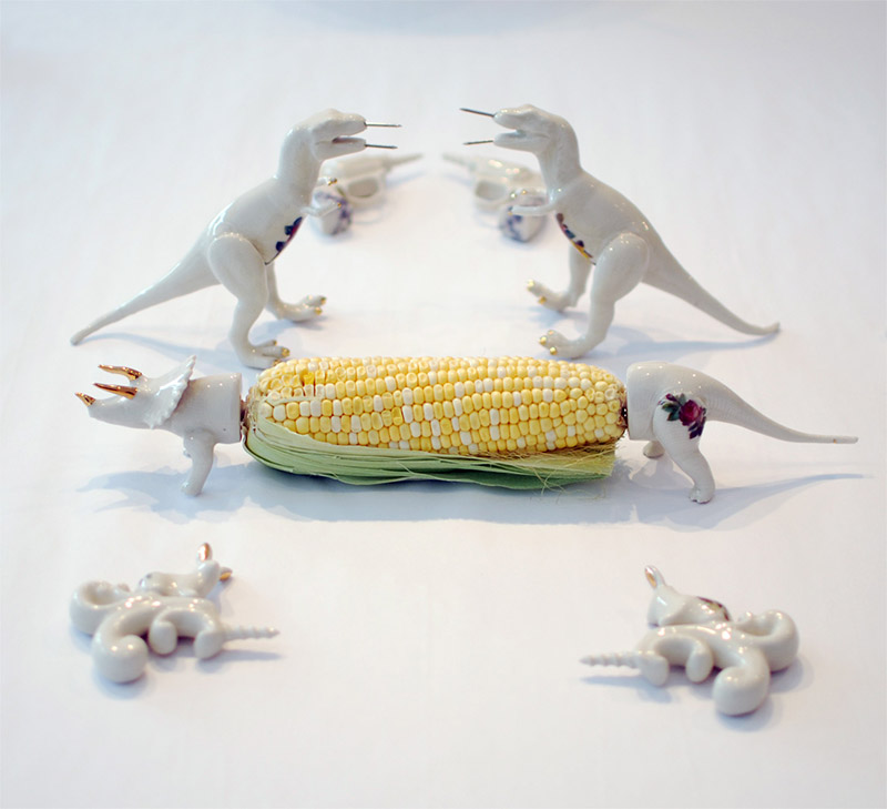 Dinosaur Corn Cob Holders 1
