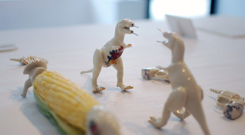 Dinosaur Corn Cob Holders 2