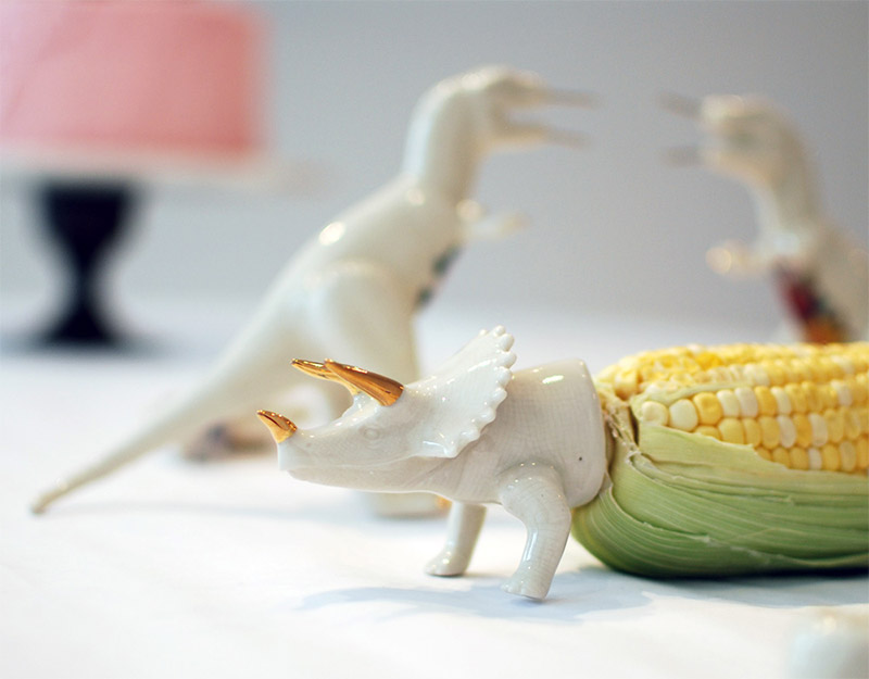 Dinosaur Corn Cob Holders 3