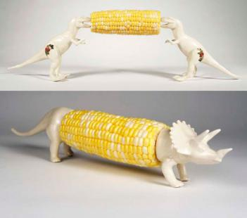 Dinosaur Corn Cob Holders