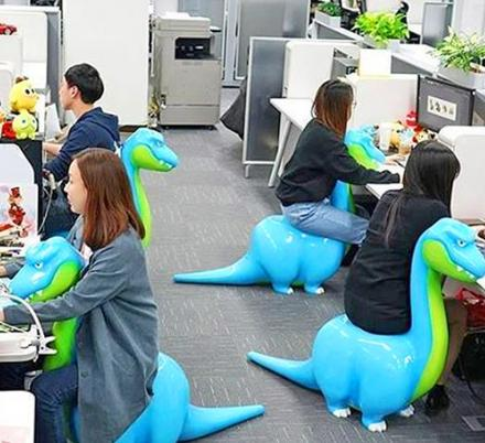 These Quirky Dinosaur Shaped Office Chairs Are The New