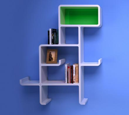 Dinosaur Shaped Wall Shelving Unit