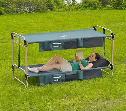 Disc-O-Bed: An Adult Camping Bunk-Bed, Turns Into a Sofa During The Day