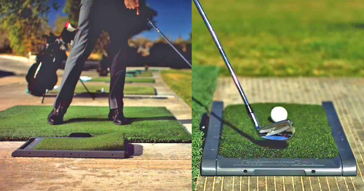 Divot Simulating Golf Mat Helps Practice On Natural Turf
