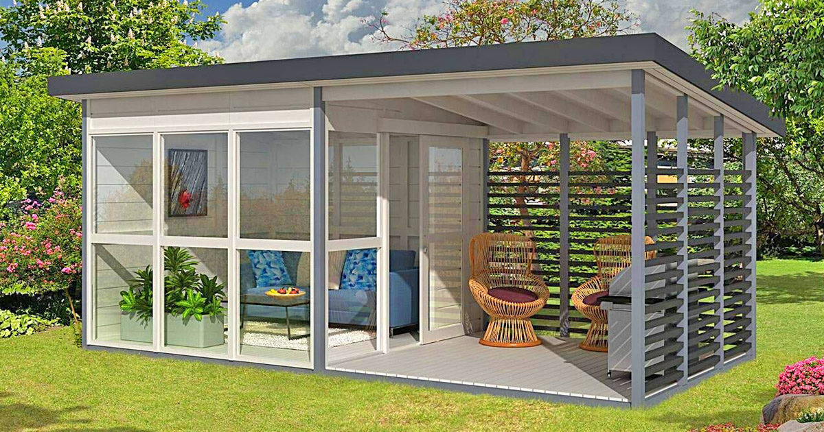 Amazon Now Has a DIY Backyard Guest House That Can Be Built In Just 8 Hours