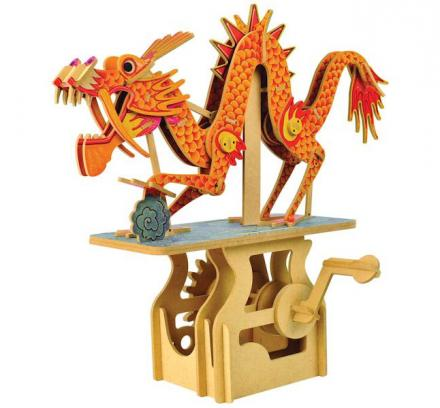 DIY Mechanical Moving Dragon Puzzle Toy