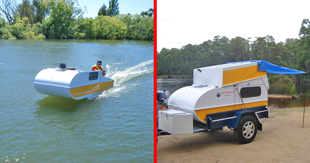 This DIY Micro-Camper Converts Into a Boat In Seconds