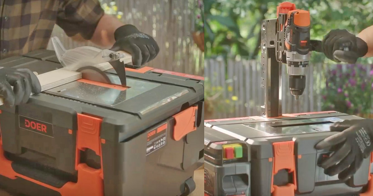 DOER Is an Incredible 12-in-1 Modular Toolbox, Fits an Entire Tool Shed In a Box