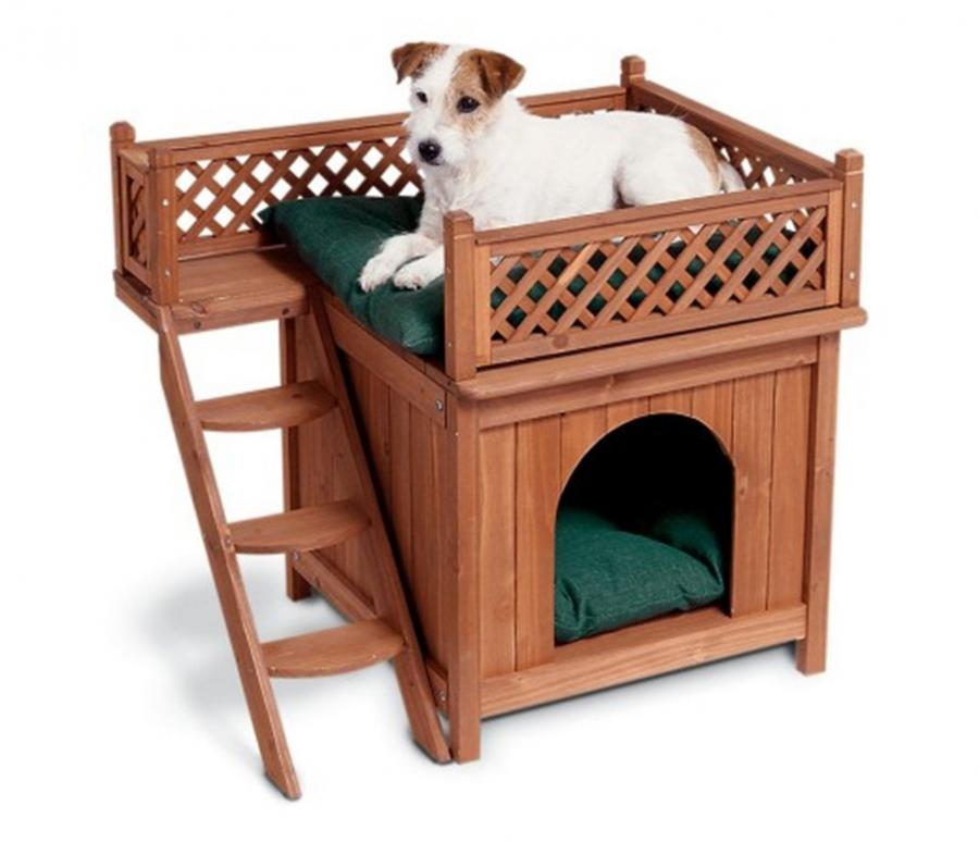 This Dog Bunk Bed Is Made To Look Like A Small Wooden Home With Balcony And Would Work Great For 2 Dogs Sleep In Each Or One