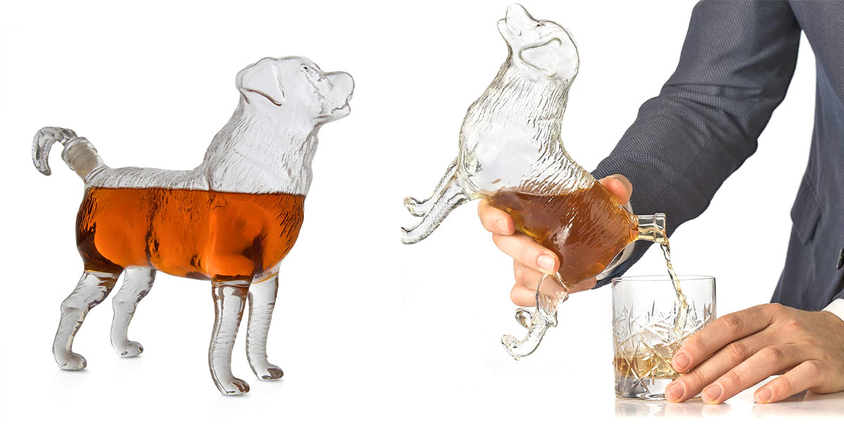 This Dog Whiskey Decanter Makes a Perfect Centerpiece For a Home Bar
