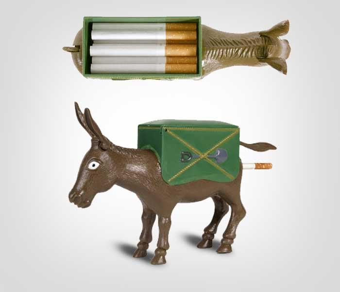 Plastic donkey cigarette dispenser best tobacco seeds for cigarettes