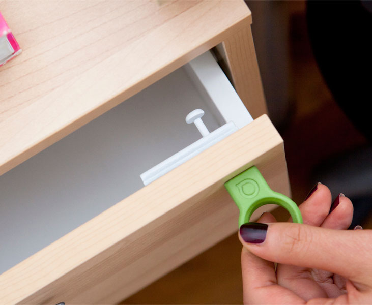 Delicieux The Quirky Covert Is A Device That Will Let You Lock Your Drawers Without A  Visible Lock On The Outside Of The Drawer Face, And Uses A Magnetic Key  That ...