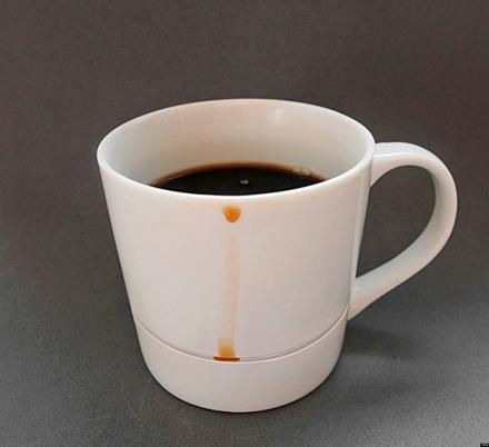 This Genius Drip-Catching Coffee Mug Will Keep Your Table Clear Of Drip Stains