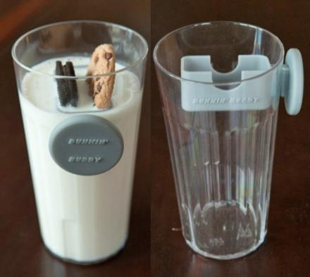 Dunkin' Buddy: A Magnetic Cookie Dunker That Slides Down Your Glass
