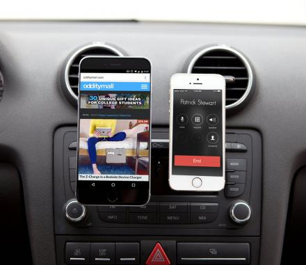 DuoMount Lets You Mount Two Phones Using Your Cars CD Slot
