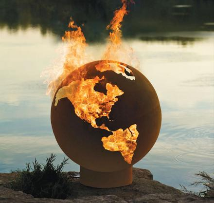 - Earth Shaped Fire Pit