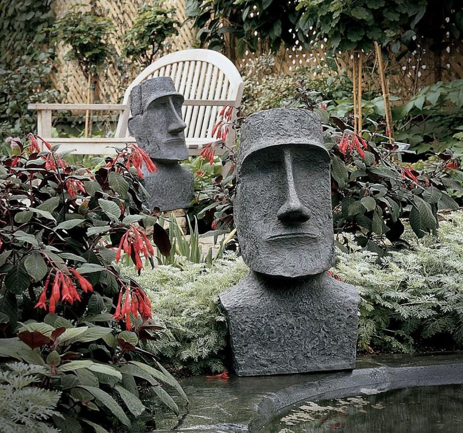 Easter Island Monolith Garden Sculpture