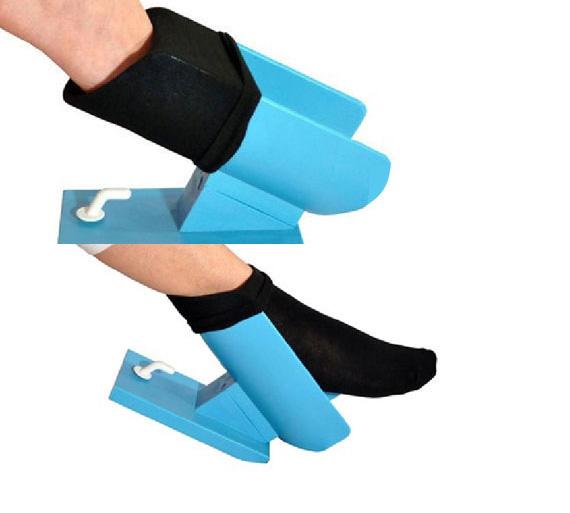 Easy On Sock Aid Helps Seniors Put Their Socks On