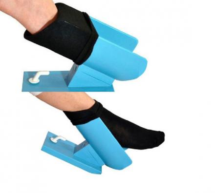 Easy On Sock Aid Helps Seniors Put Their Socks On