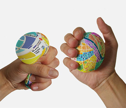 Egg Map: Squeeze The Ball To Magnify The Map