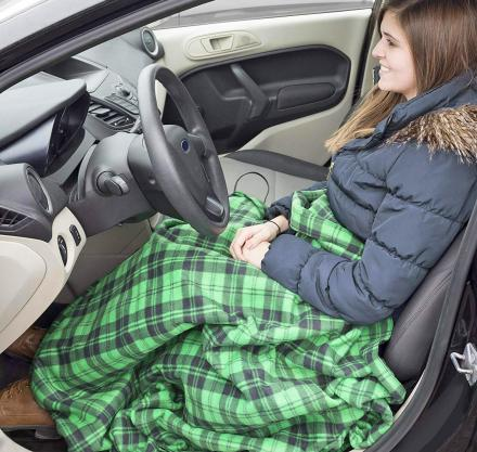 Electric Heated Driving Blanket Plugs Into Your Cars Outlet