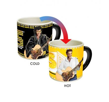 Elvis Heat Changing Mug - Changes From Vegas Elvis To Memphis Elvis
