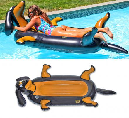 Every Dachshund Owner Probably Needs One Of These Giant Wiener Dog Pool Floats