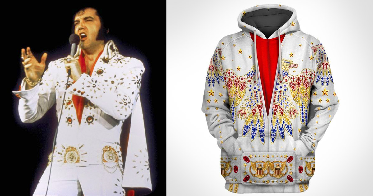 Every Elvis Fan Probably Needs This Full-Print Elvis Hoodie