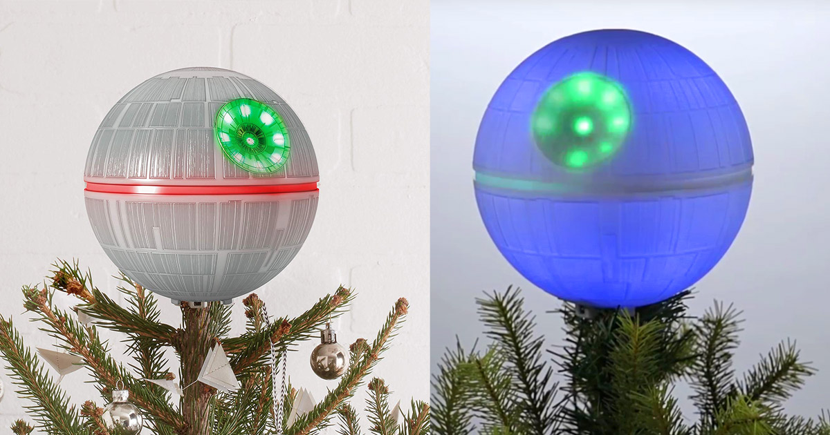 Every Star Wars Geek Needs This Light-up Death Star Christmas Tree Topper