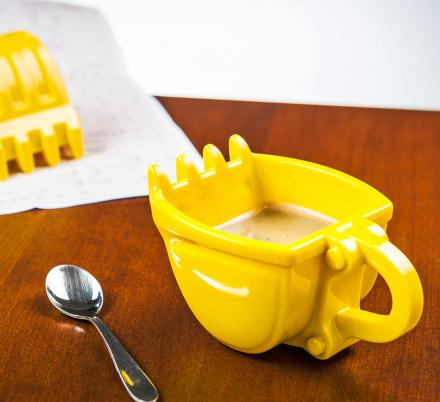 This Excavator Bucket Coffee Mug Is Perfect For Construction Workers