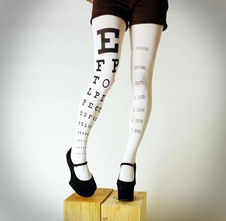 Eye Exam Chart Tights