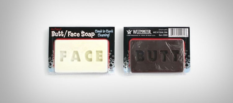 Face and Ass double sided bar of soap