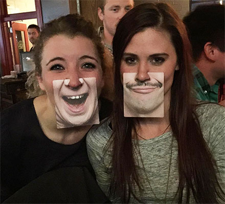Face Coasters Attach To Your Nose, Gives You A Funny Face
