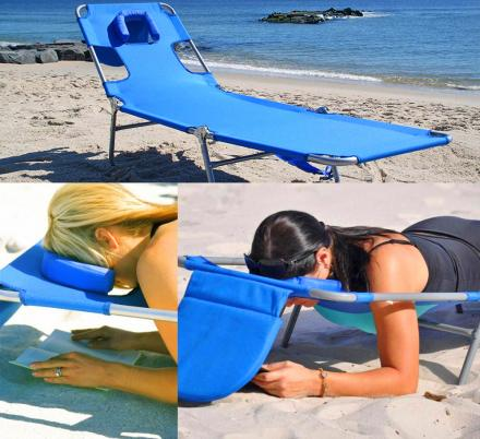 Face Down Lounge Chair Lets You Read Comfortably On Your Stomach