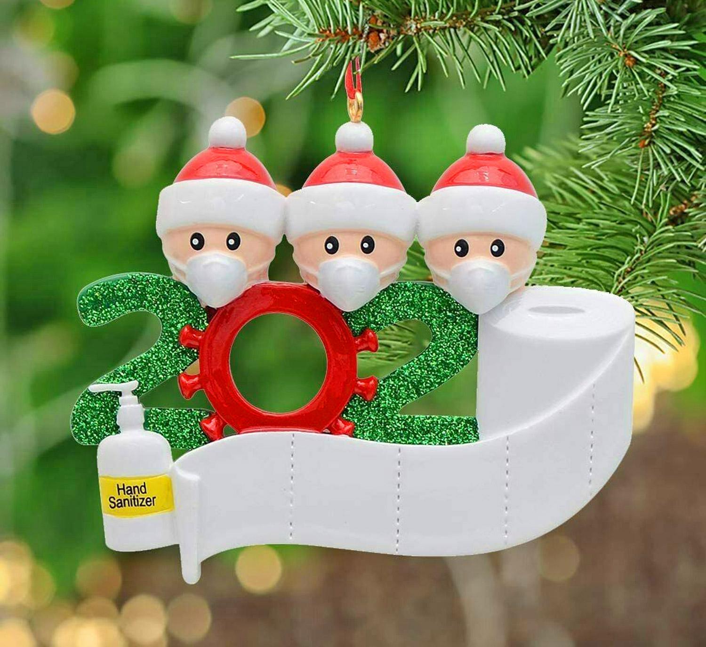 pxbcukpgevljm https odditymall com family in face masks quarantine christmas tree ornament