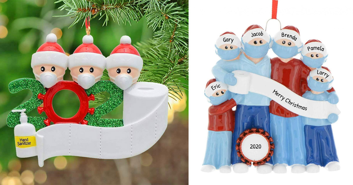 You Can Now Get a Family In Face Masks Christmas Ornament To Properly Remember 2020