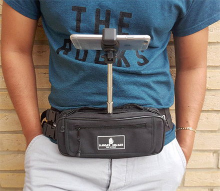 Fanny Pack Phone Holder Selfie Stick