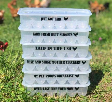 Farm Fresh Butt Nuggets, and Other Hilarious Egg Cartons For Chicken Owners