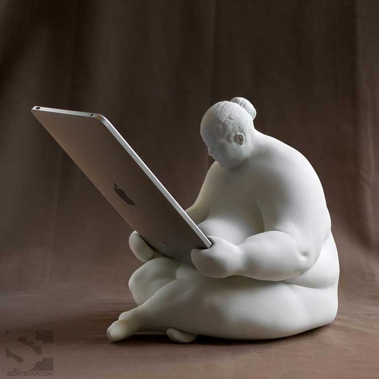 Fat Naked Lady iPad Dock 2